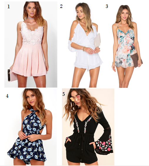 Spring Summer Vacation Romper Outfit