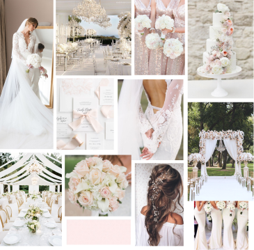 pinterest wedding inspo board inspiration white blush wedding