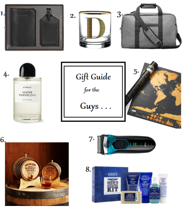 gift guide for men guys cologne shave weekend bag christmas holidays presents